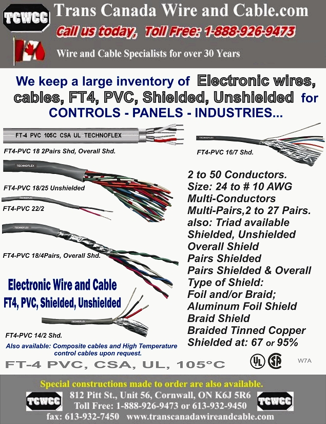 Our products | TRANS CANADA WIRE & CABLE CO.